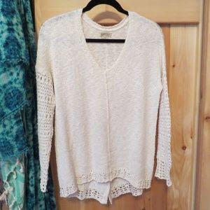 Luck Brand Cream Sweater